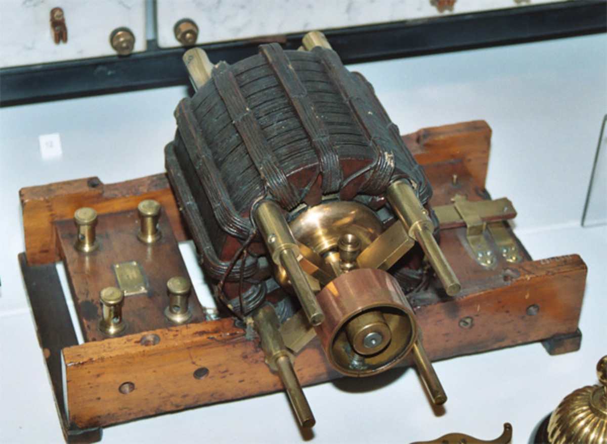 One of the original AC Tesla Induction Motor in the British Science Museum, London