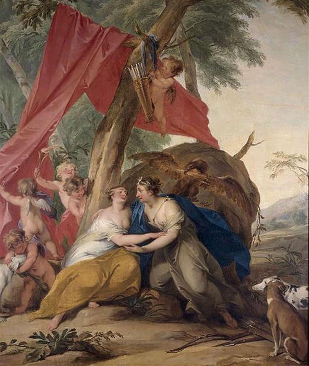 The Seduction of Callisto - Jacob de Wit (1695–1754) - PD-art-100