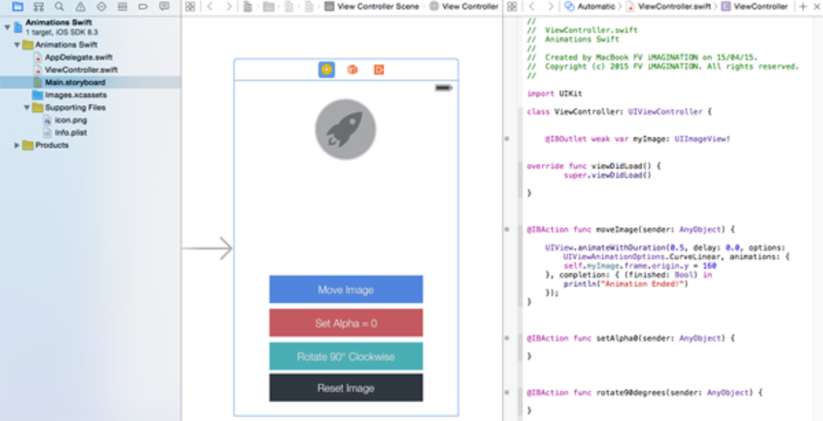  iOS - How to make Animations of a UIImageView in Swift