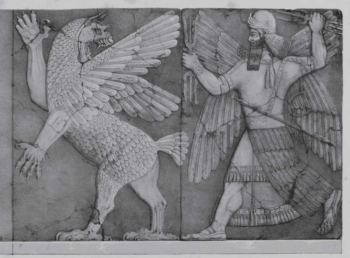Babylonian image tied into the Annunaki mythos.