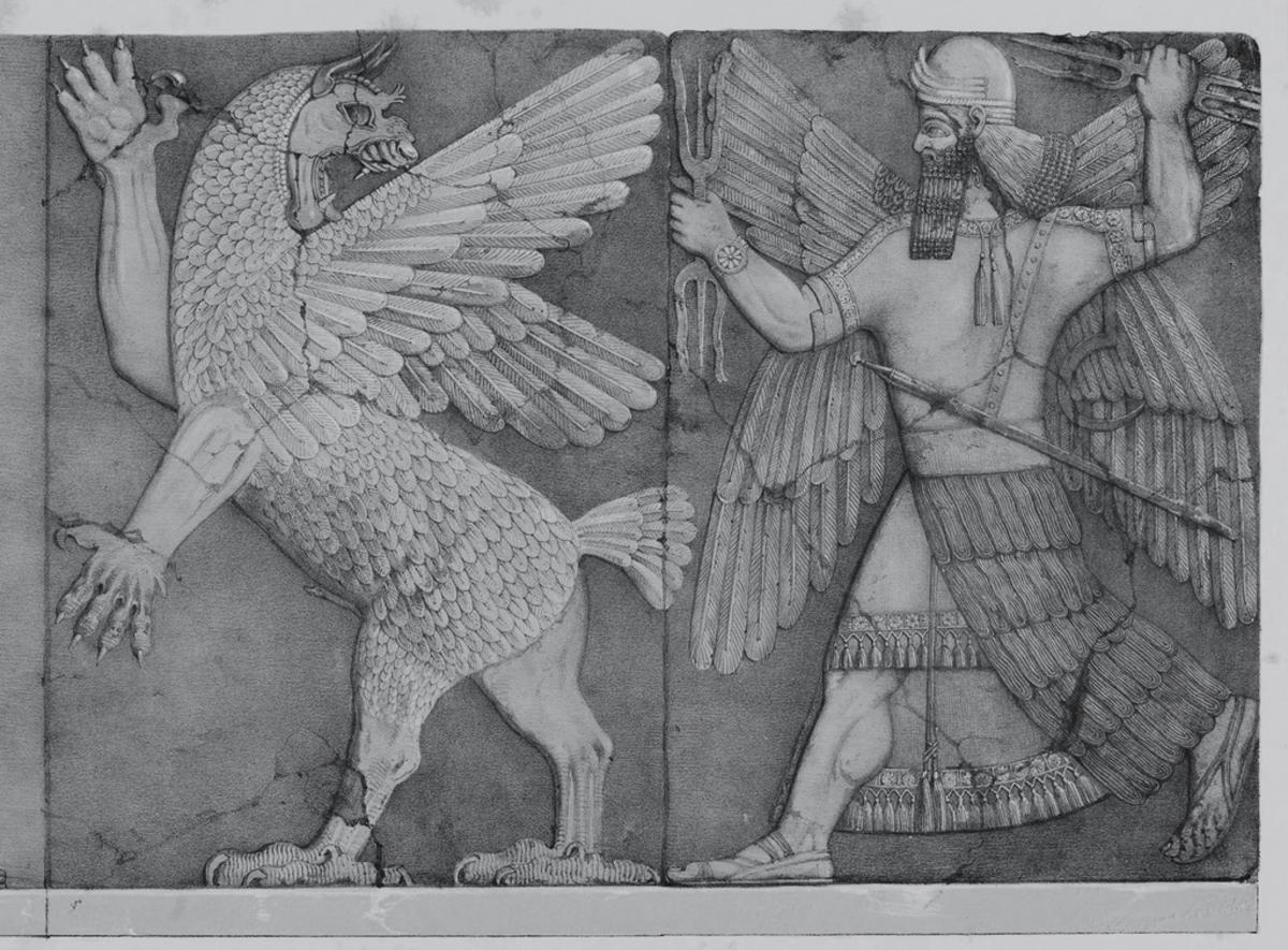 Babylonian image tied into the Annunaki mythos.