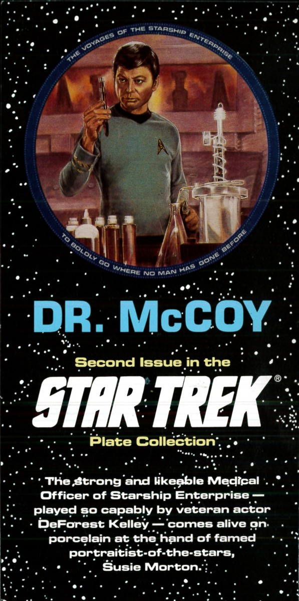 Portraitist Susie Morton has portrayed Dr. McCoy accurately and in Superb Style. She studied dozens of photographs of Dr. McCoy before beginning her work.