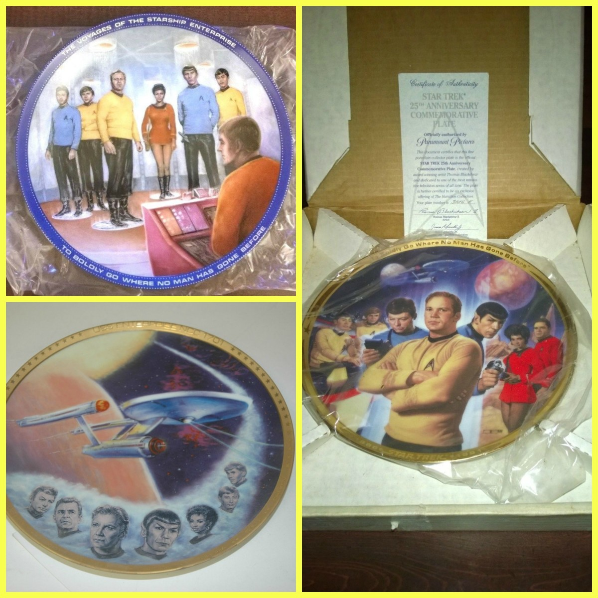 Collecting Star Trek Limited Edition Collector Plates Hamilton Collection