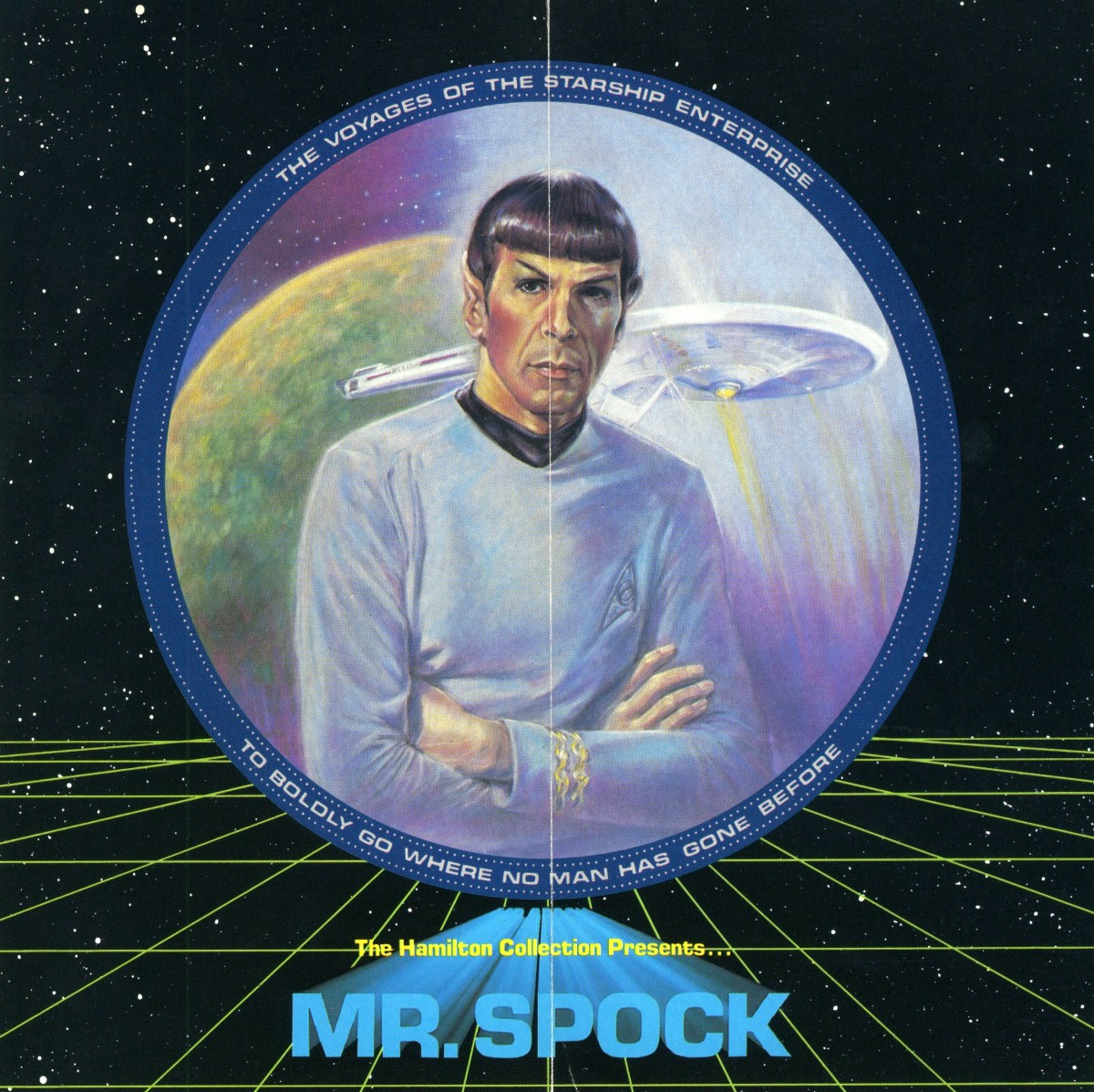 Mr. Spock was the first issue in the STAR TREK plate collection. This was the first ever limited edition plate inspired by the voyages of the Starship Enterprise