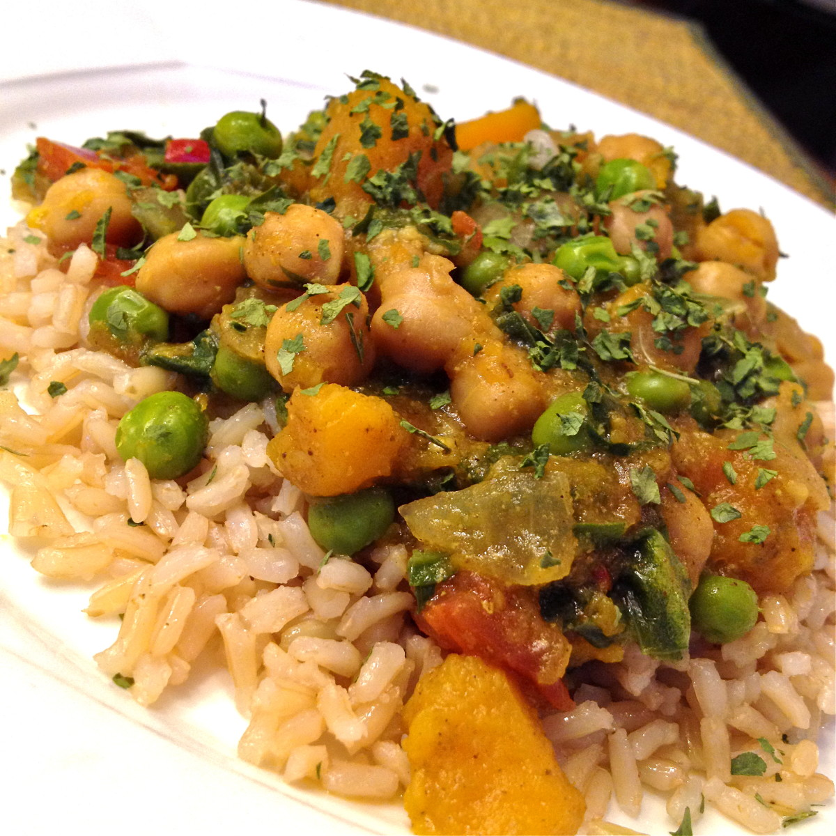 Squash, Chickpea and Coconut Curry Recipe