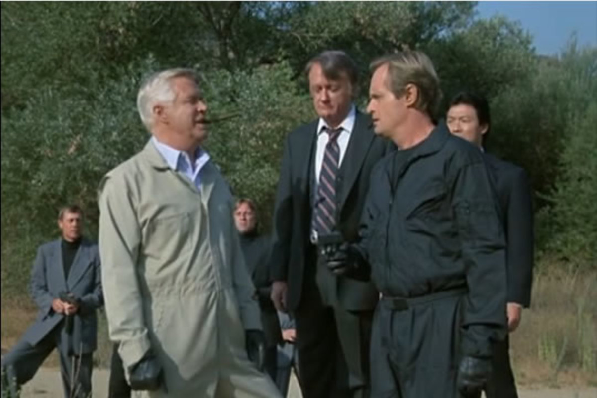 Vaughn and McCallum in 'Say UNCLE Affair' an episode of the A Team