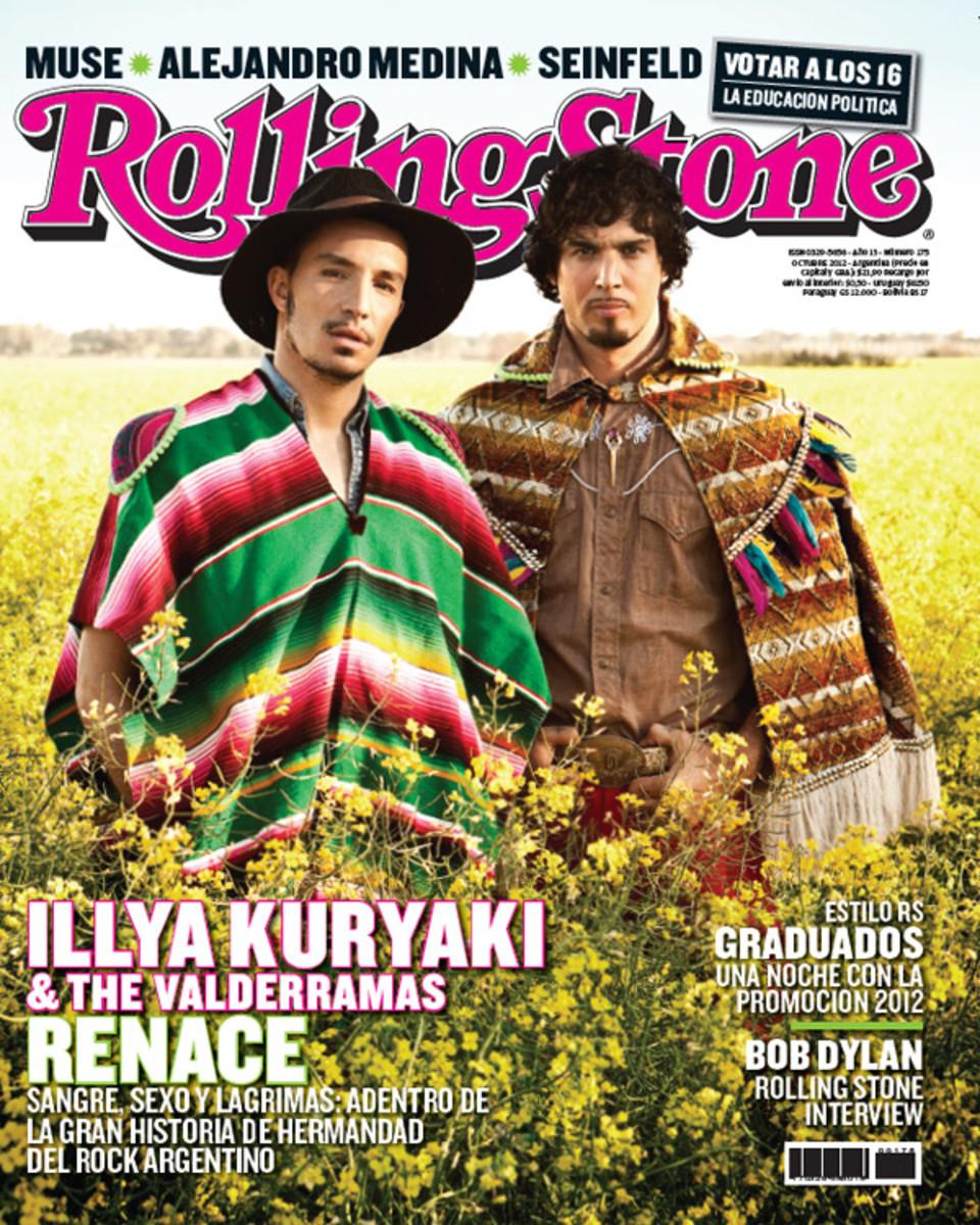Illya Kuryaki and the Valderramas on the cover of Rolling Stones magazine.