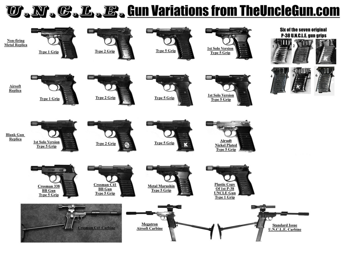 The variations of UNCLE special from replica manufacturer theunclegun.com