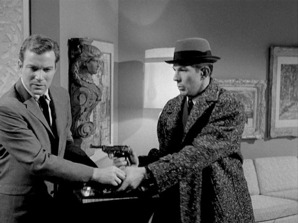 William Shatner and Leonard Nimoy in  U.N.C.L.E episode 'Project Strigas Affair'