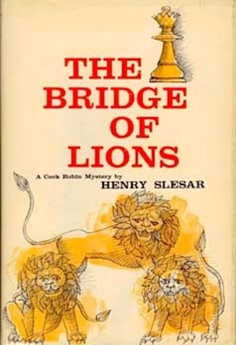 'Bridge of Lions'  a novel by Henry Slesar  and the basis of the Man from U.N.C.L.E episode of the same name ( and the feature release 'One of our spies is missing')
