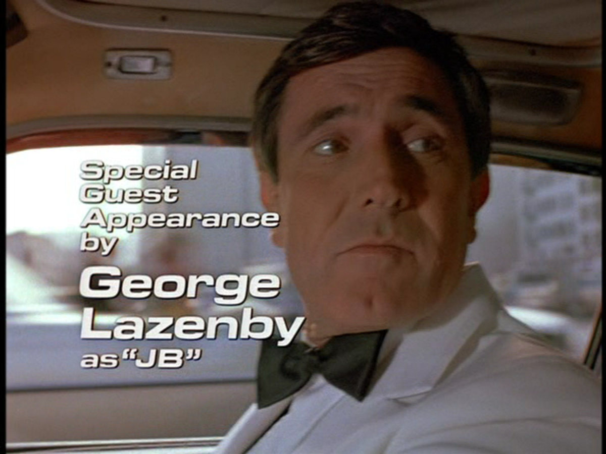 George Lazenby as 'JB' in the Return of the Man from U.N.C.L.E