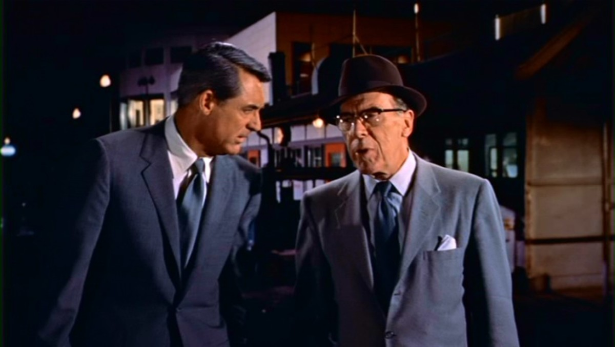 Leo G Carroll as spymaster' The Professor' in North by Northwest