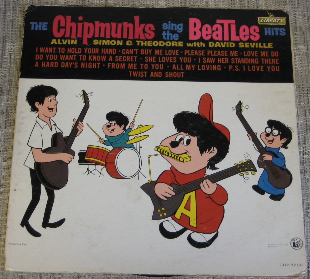 The Chipmunks covered The Beatles on a 1964 album