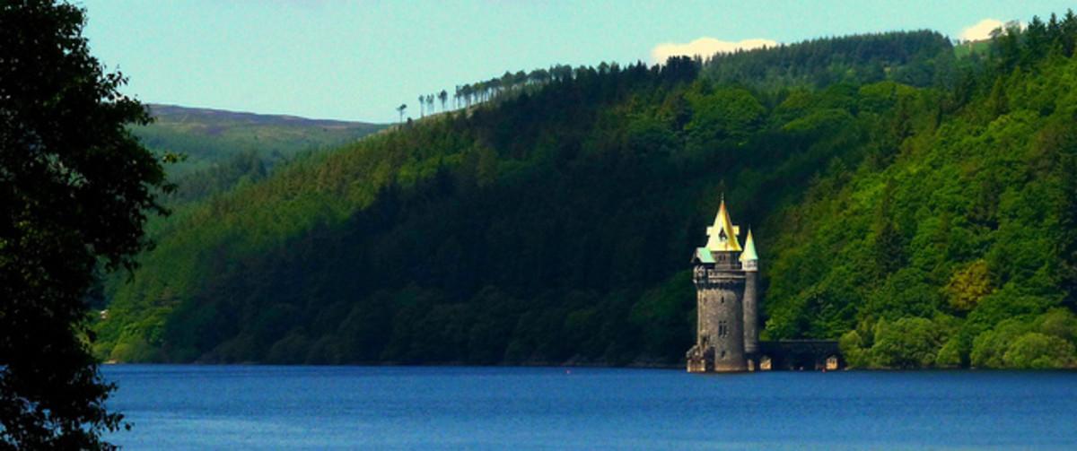 Lake Vynwry near Welshpool Wales