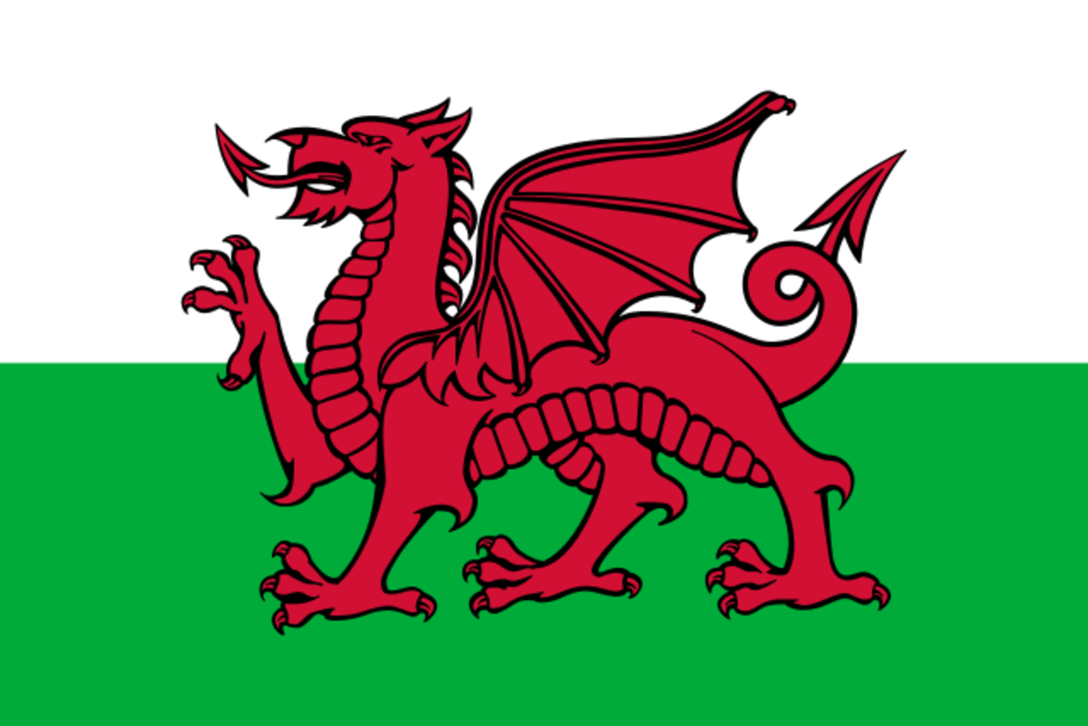Y Ddraig Goch, the famous red dragon of Wales