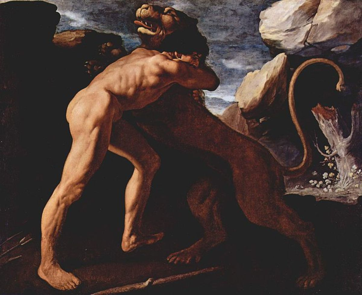 The Nemean Lion and Heracles in Greek Mythology