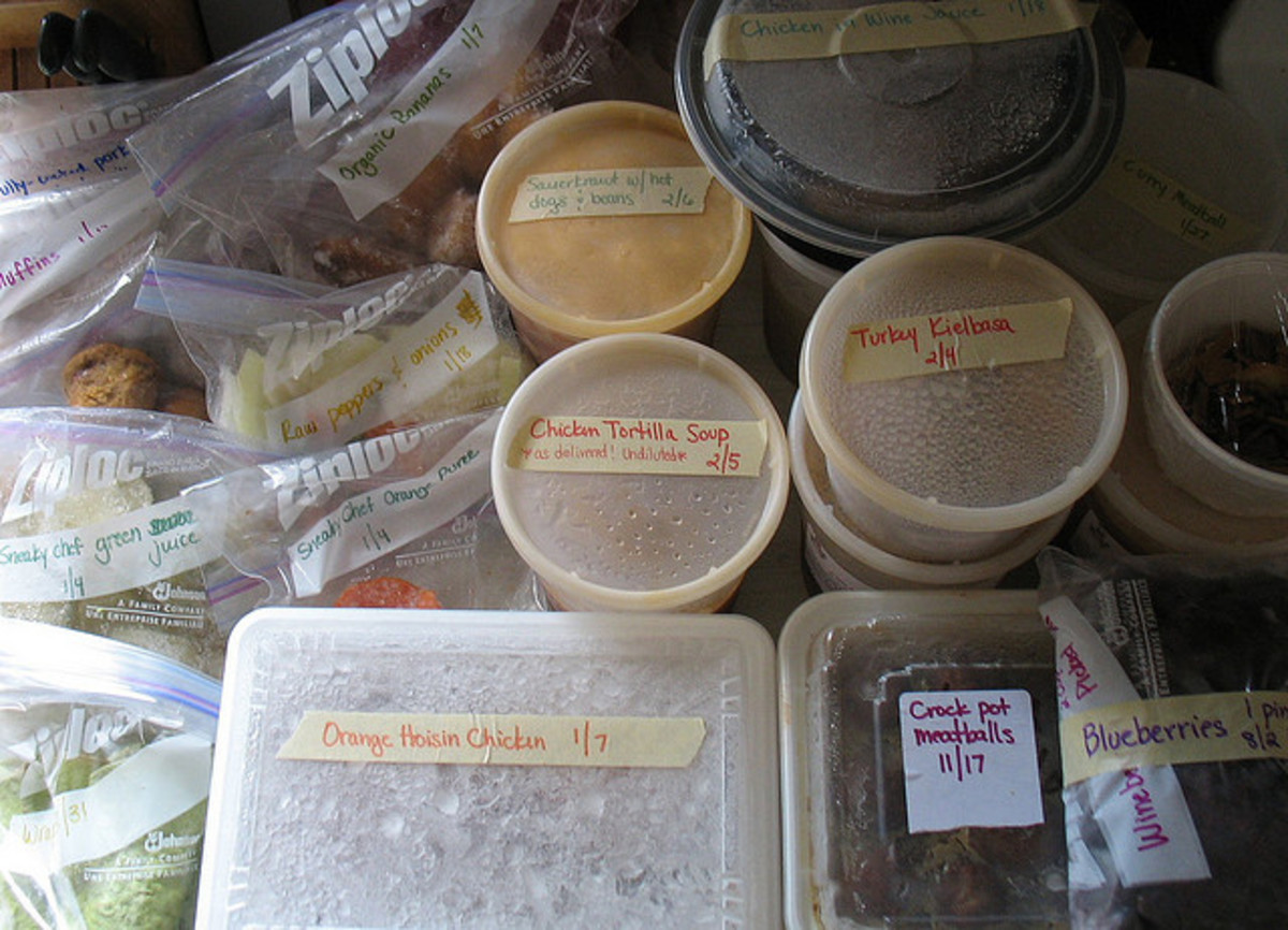 Preparing Make Ahead and Dump Freezer Meals.