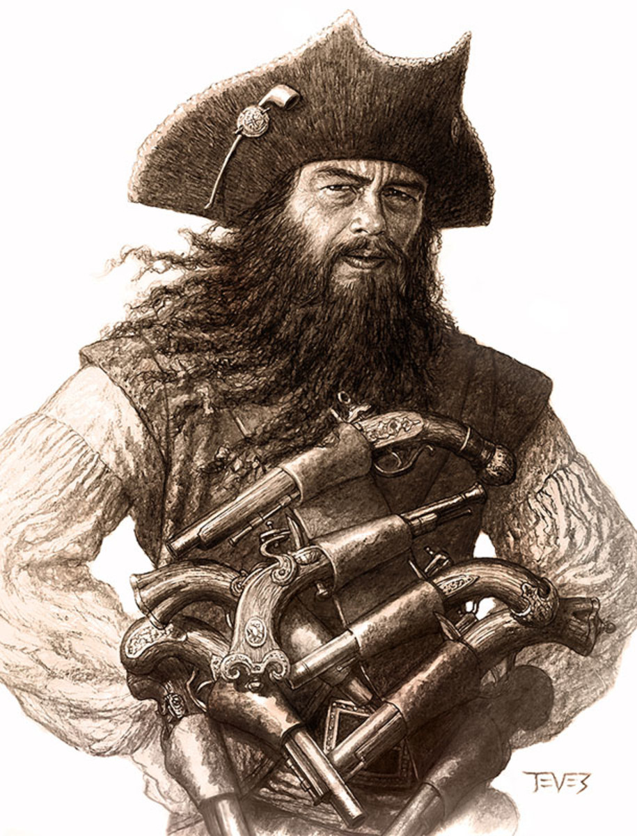 Blackbeard the Pirate (1680-1718)