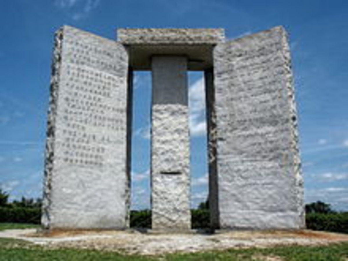The monument created from 6 granite slabs is over 19 feet high and weighs 237,746 pounds.