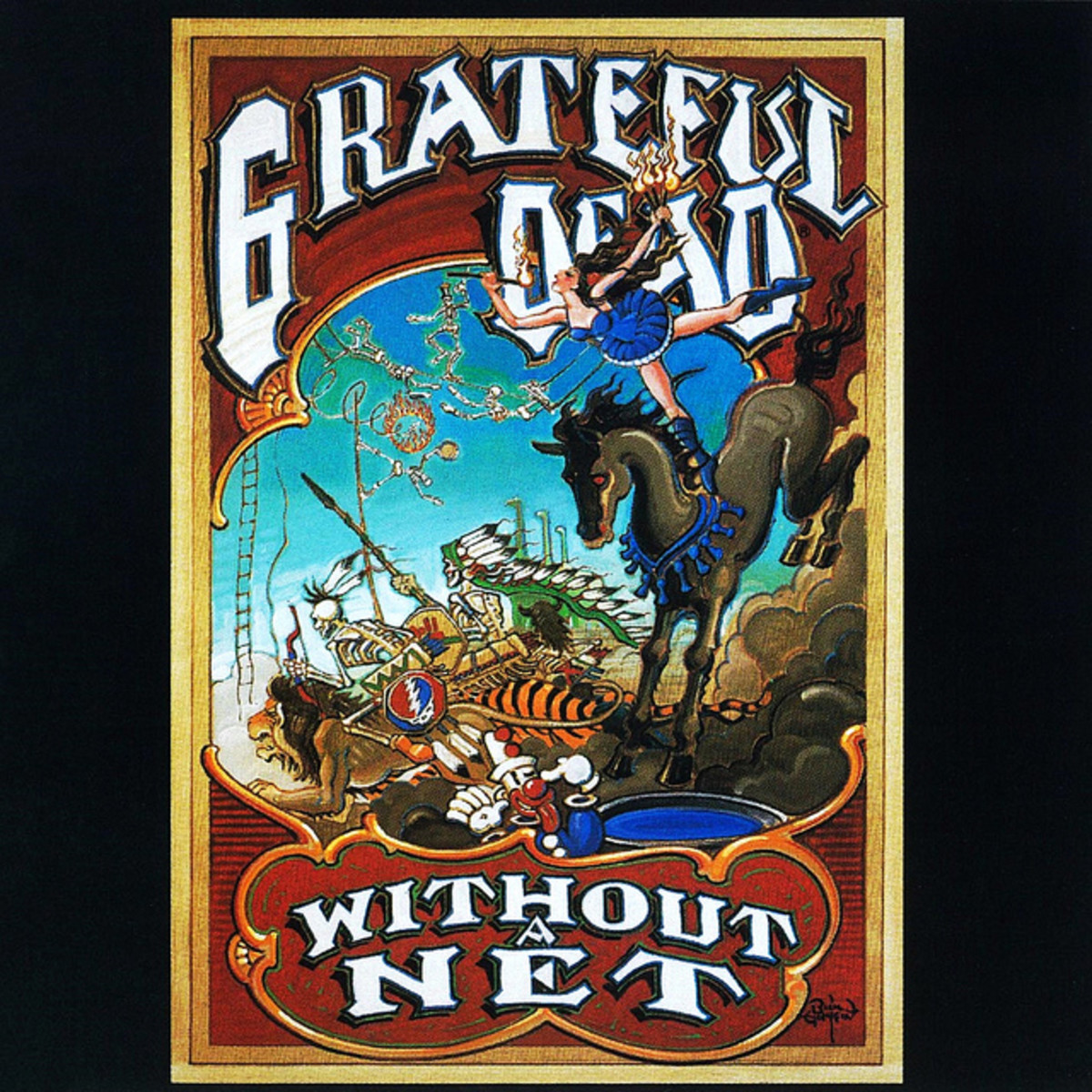 "The Grateful Dead ""Without A Net"" Arista Records AL3-8634 3 12"" :P Vinyl Record Set, US Pressing (1990) Album Cover  Art by Rick Griffin"