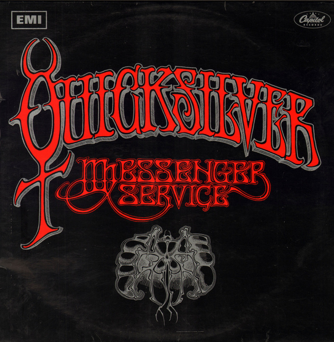 "Quicksilver Messenger Service ""Quicksilver Messenger Service"" EMI / Capitol Records ST 2904 12"" LP Vinyl Record, UK	Pressing (1968) Album Cover Art by Rick Griffin"