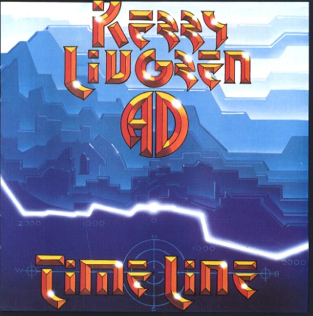 "Kerry Livgren ""Time Line"" Myrrh Records MYR R 1205 12' LP Vinyl Record, UK Pressing (1984) Album Cover Art by Rick Griffin"