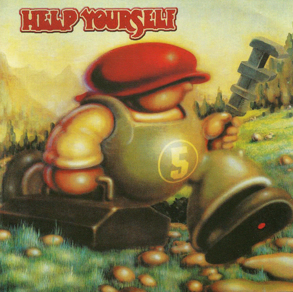"""Help Yourself """"5"""" HUX Records HUX 054 CD Album, UK Pressing (2004) CD Album Cover Art by Rick Griffin"""