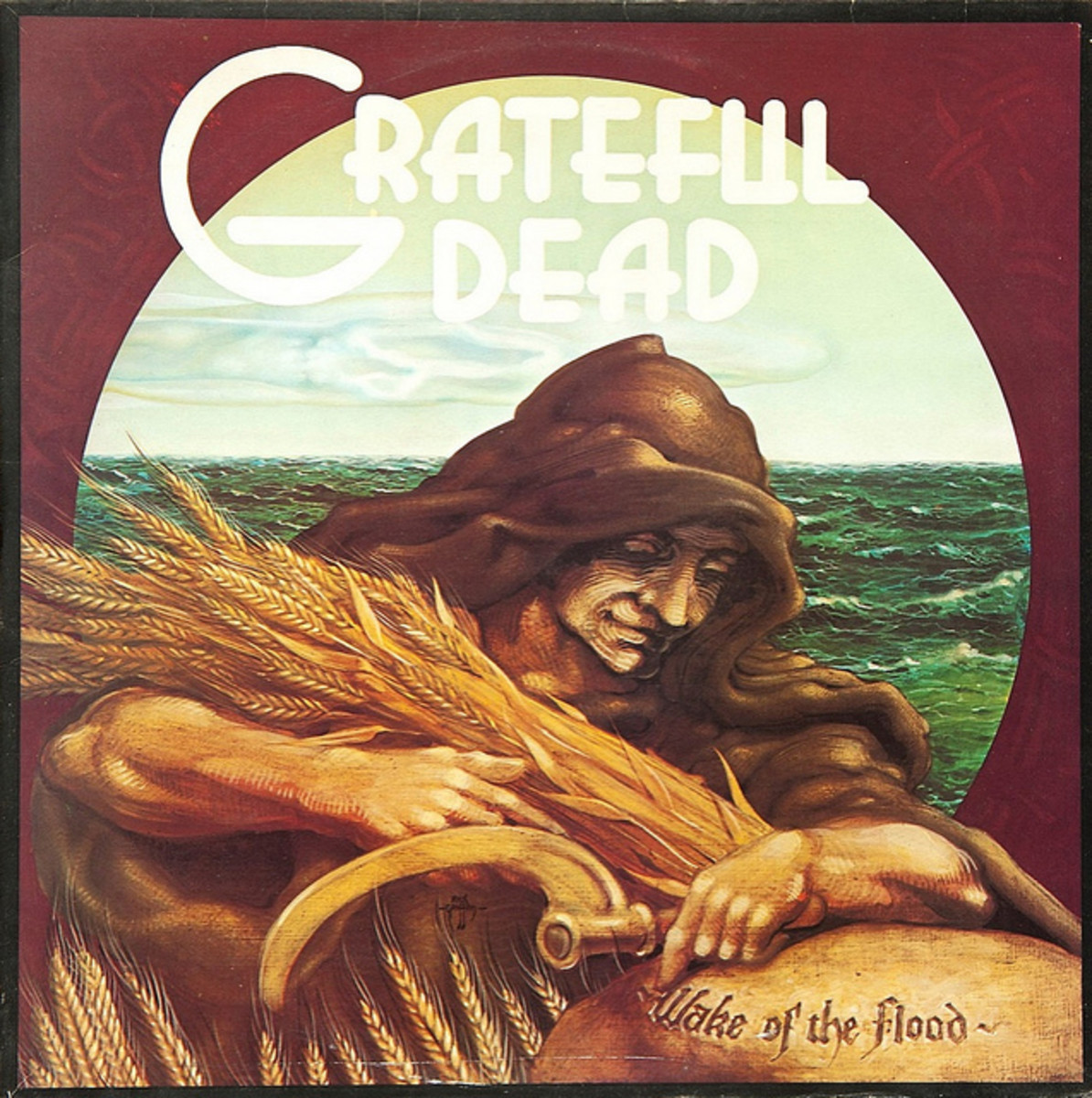 "Grateful Dead ""Wake Of the Flood"" Grateful Dead Records GD-01 12"" LP Vinyl Record, US Pressing (1973) Album Cover Art by Rick Griffin"