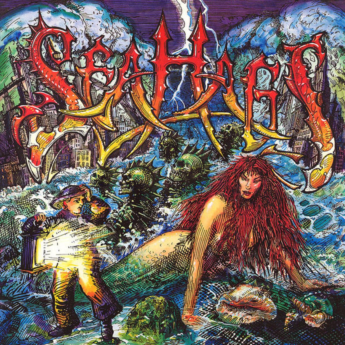"Sea Hags ""Sea Hags"" Chrysalis FV 41665 12"" LP Vinyl Record US Pressing (1989) Album Cover Art by Rick Griffin"