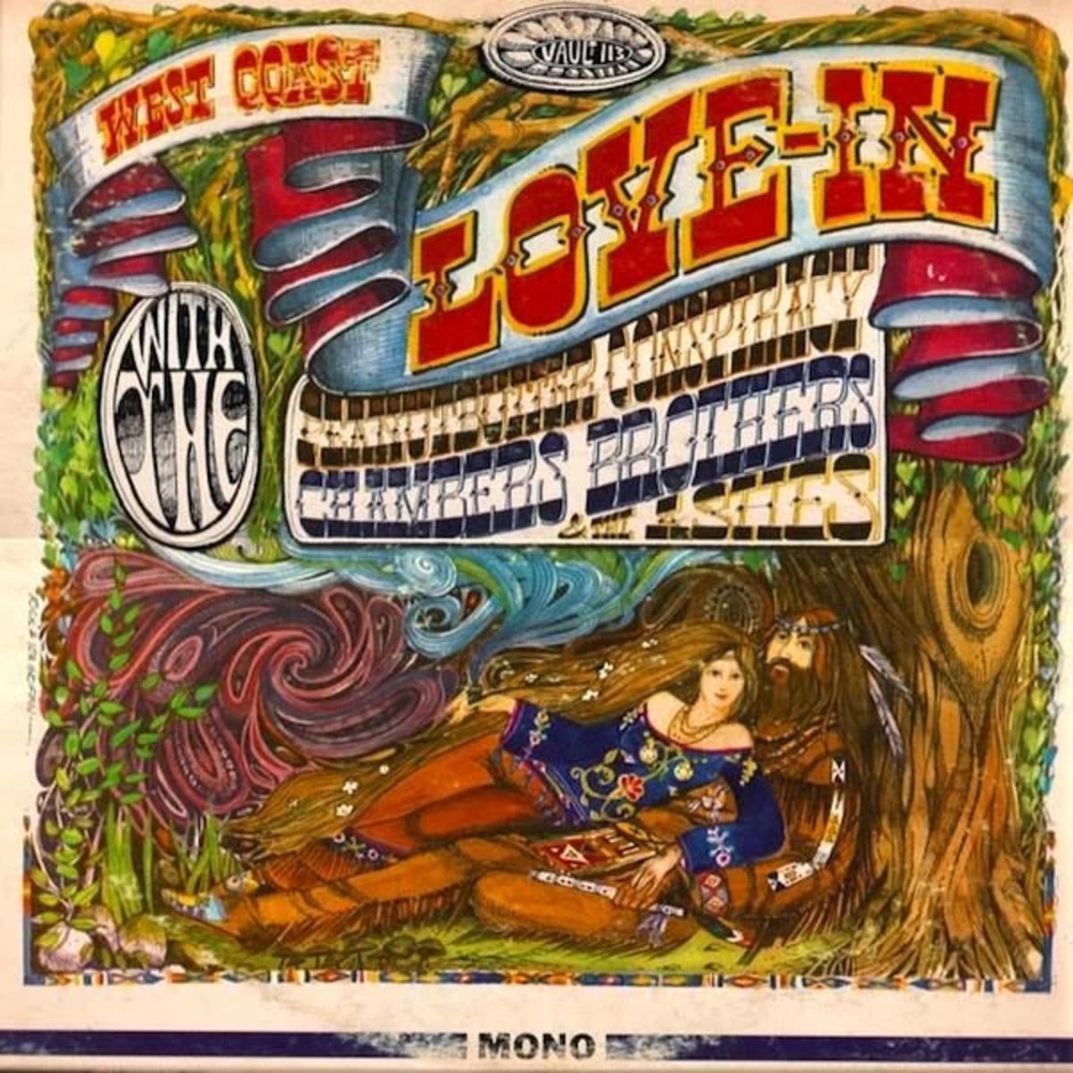 "Various Artists ""West Coast Love-In"" Vault Records LP-113 12"" LP Vinyl Record, US Pressing (1967) Album Cover Art by Rick Griffin"