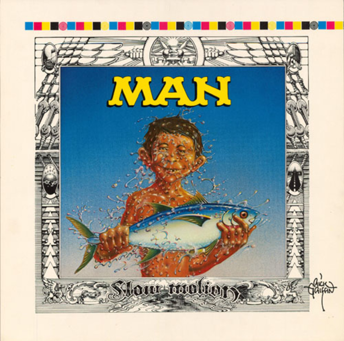 "Man ""Slow Motion"" Color Proof (1974) Album Cover Art by Rick Griffin"