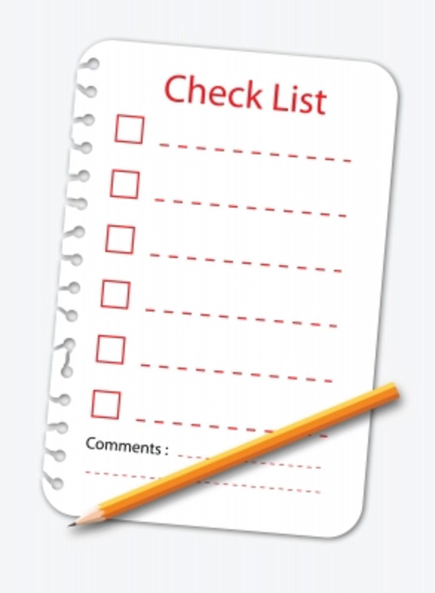 Having a list reduces the stress involved in planning a wedding