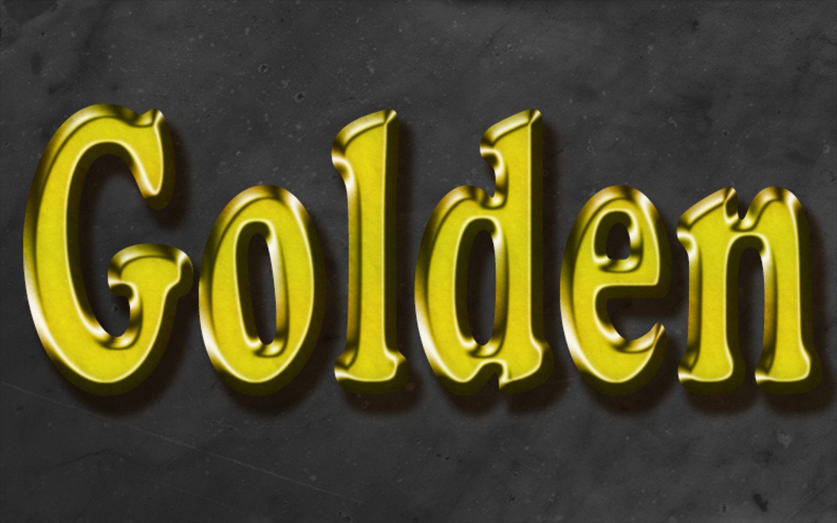 Awesome Gold Text Effect In Photoshop