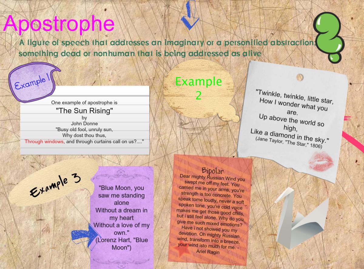 Apostrophe in Literature