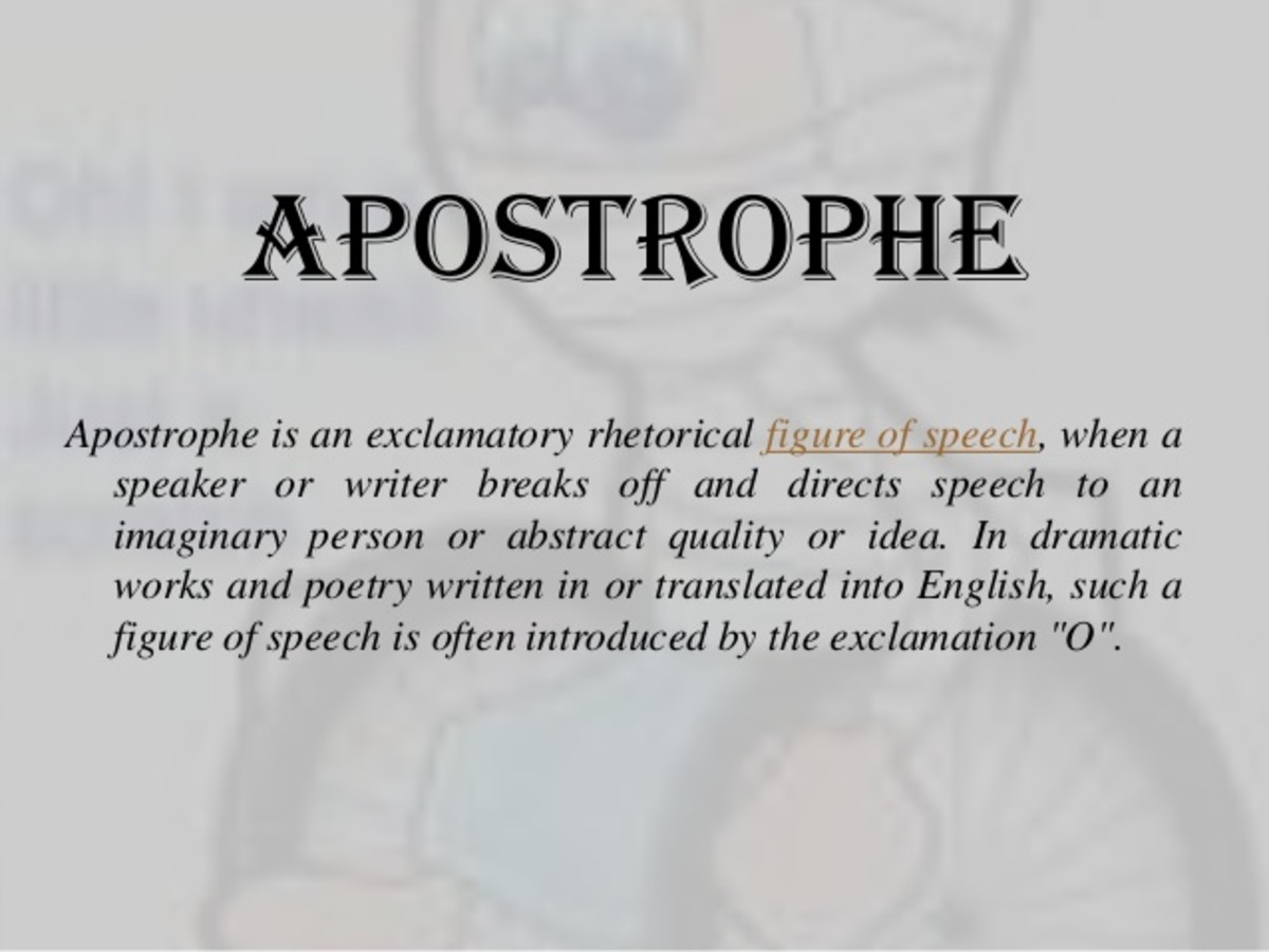 Definition and Examples of Aposrophe in Literature