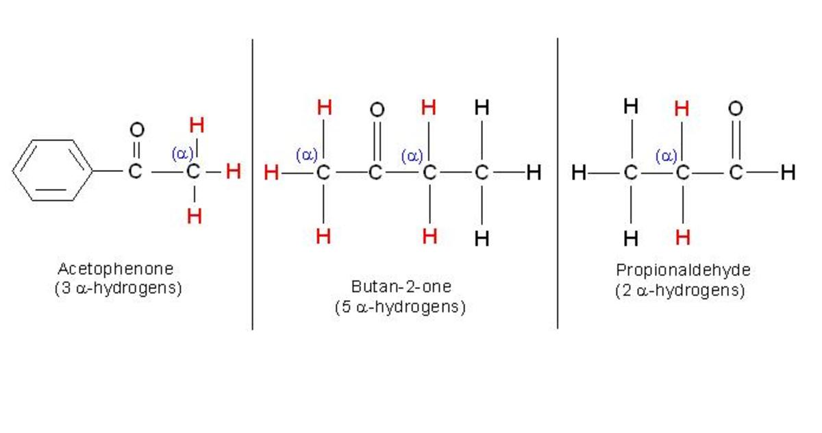 As shown in the figure; acetophenone, butan-2-one and propionaldehyde, contain alpha-hydrogen. Due to this, all these compounds exhibit phenomenon of tautomerism.