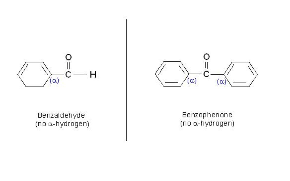 As shown in the figure both benzaldehyde and benzophenone contain no alpha-hydrogen. Hence, these two compounds can not exhibit phenomenon of tautomerism.