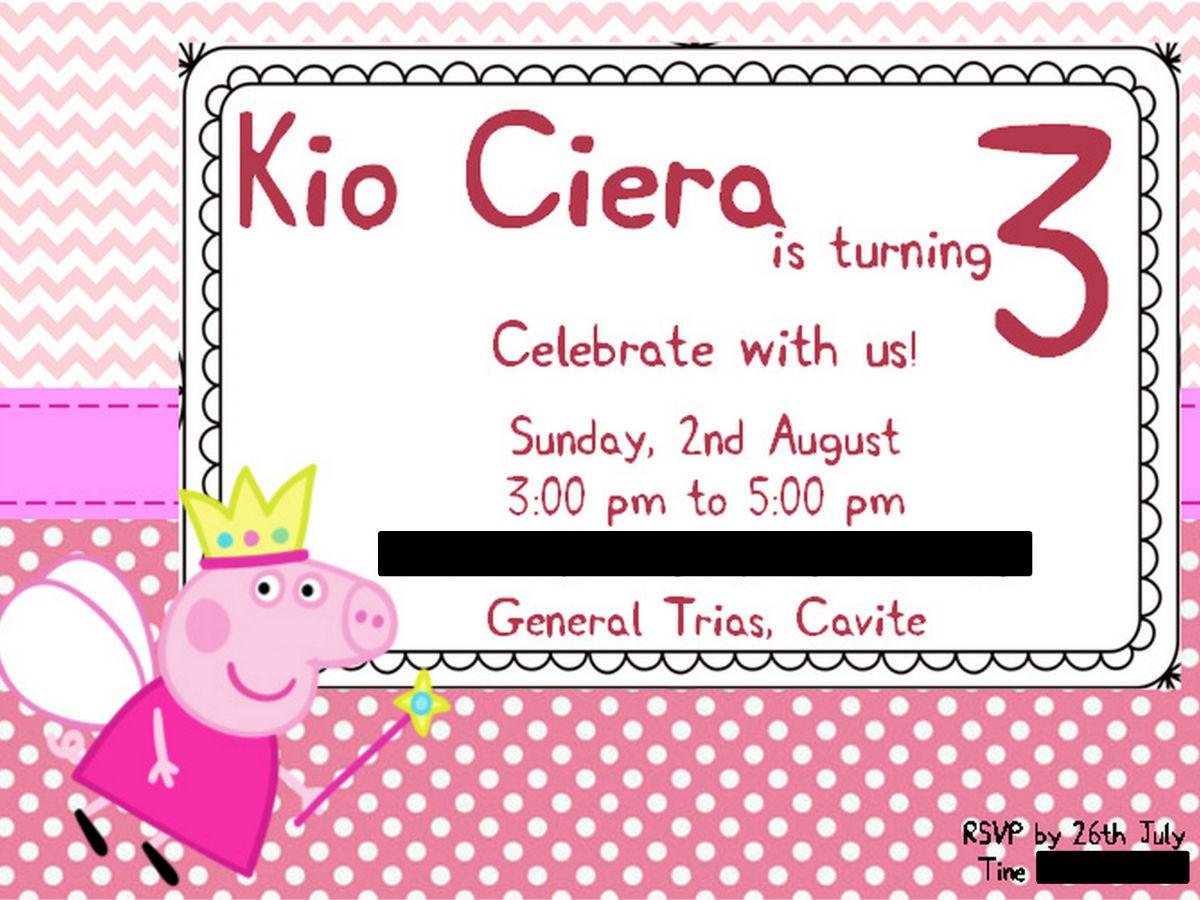 Kio's 3rd birthday Invitation