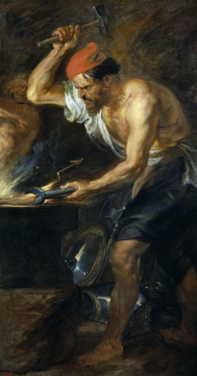 Hephaestus Hammering - Peter Paul Rubens (1577–1640) - PD-art-100