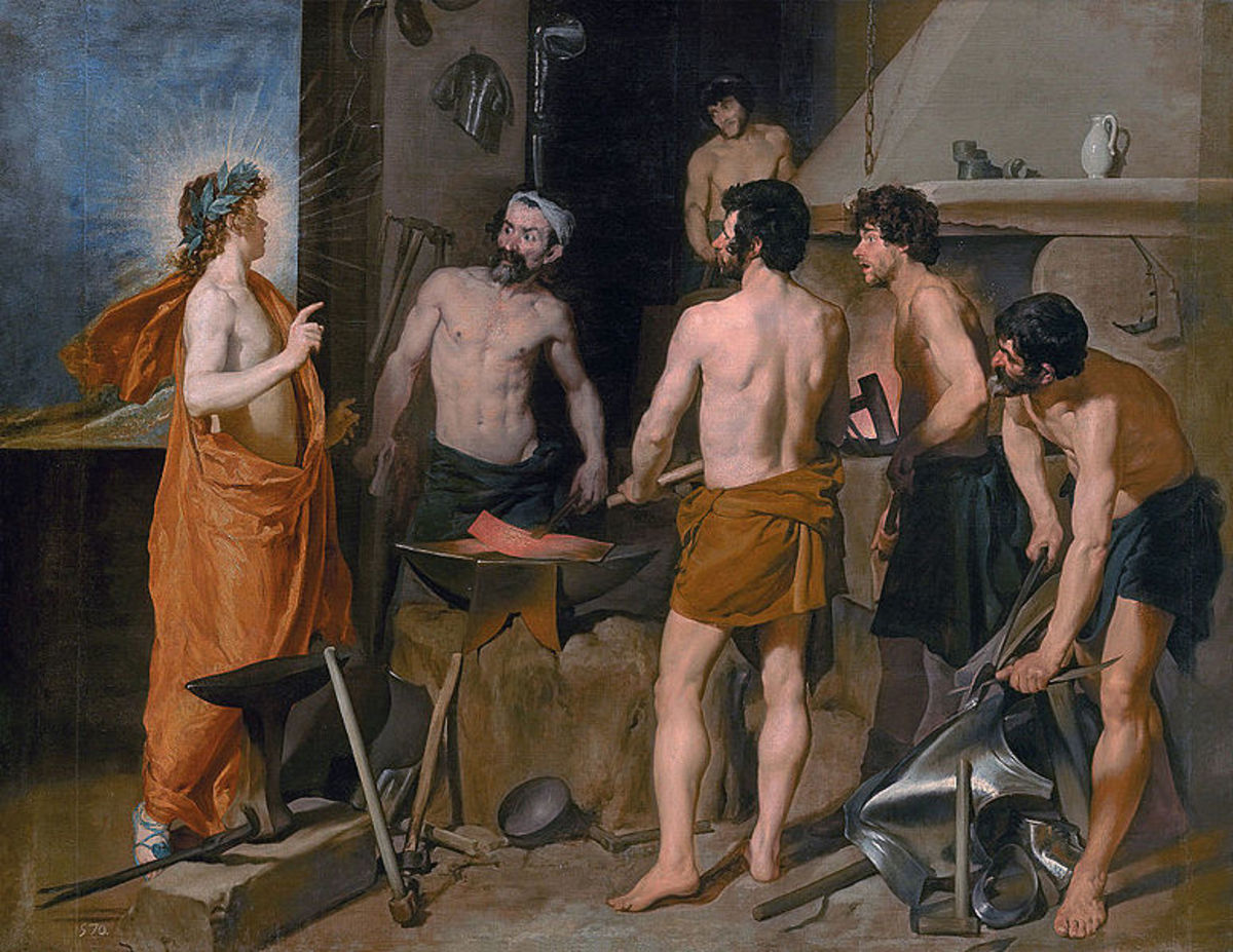 The Forge of Vulcan -  	 Diego Velázquez (1599–1660) - PD-art-100