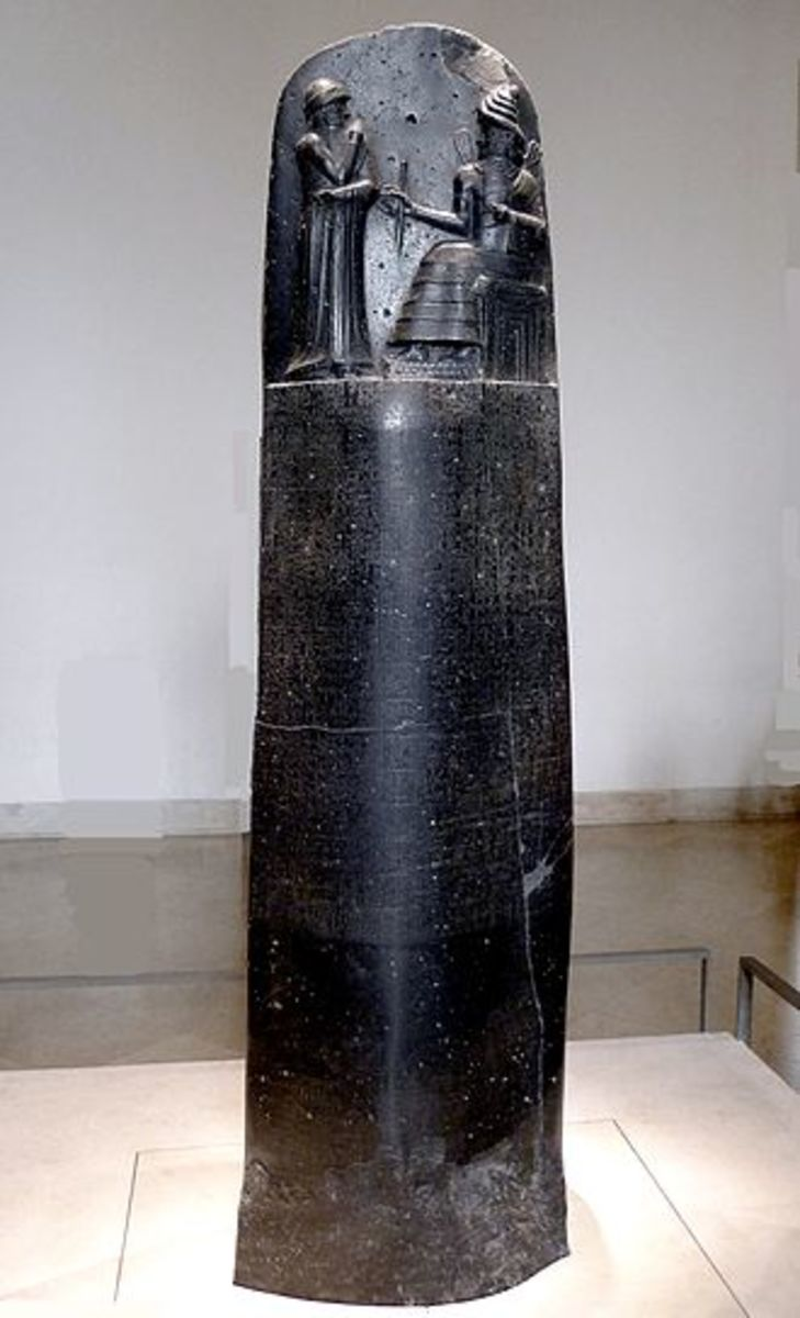 This stele containing Hammurabi's Code of Law is in the Louvre in Paris, France.