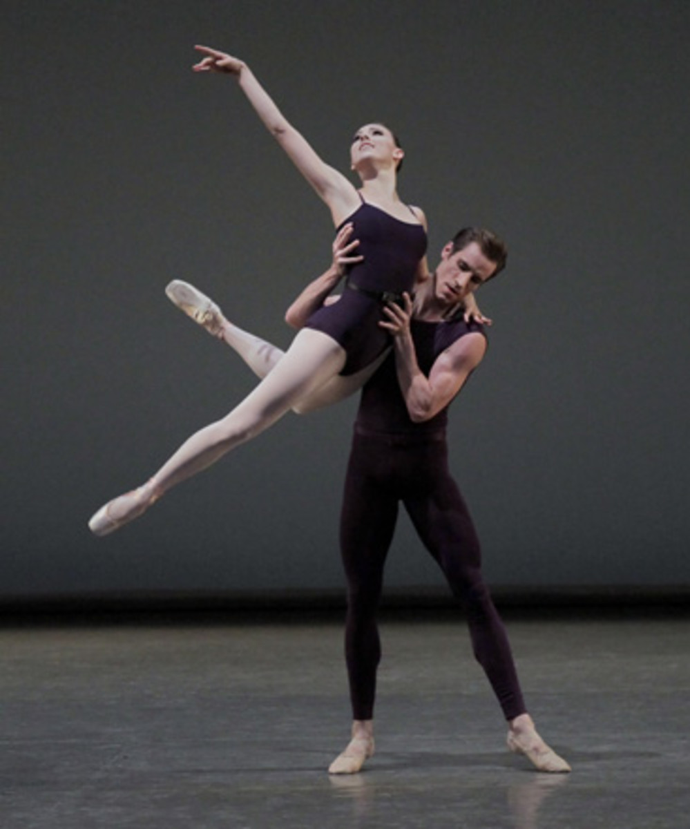 New York City Ballet dancers Tiler Peck and Andrew Veyette.