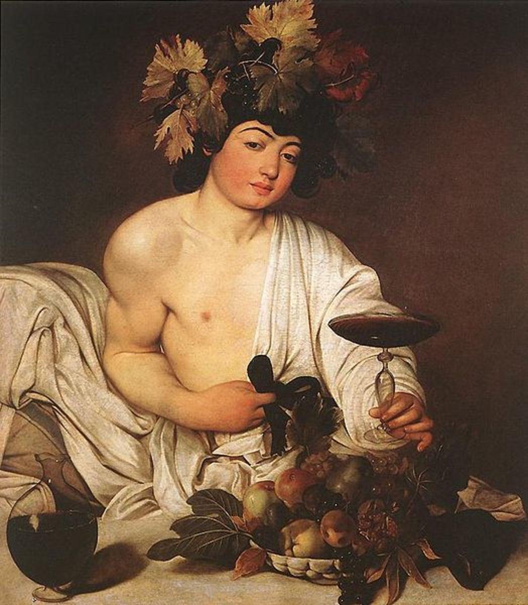 Dionsysus Son of Semele - Caravaggio (1571–1610) - PD-art-100
