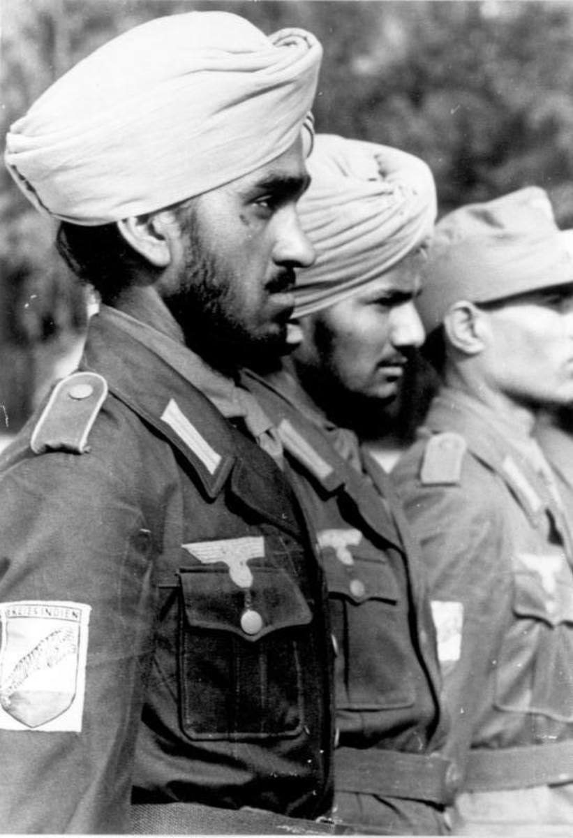Indian soldiers with the Legion