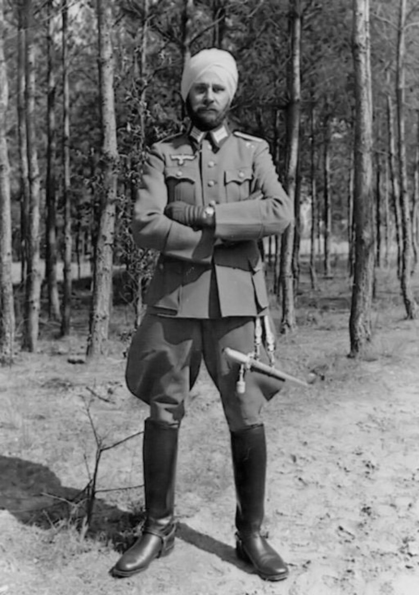 Indian officer of Indian Legion in German uniform
