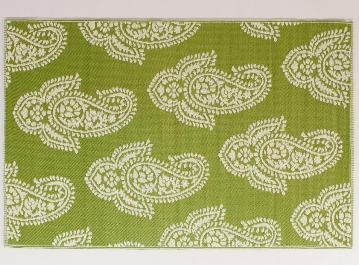 Green Paisley Urban Floor Mat from World Market. The green shade is cheerful, and the paisley print is timeless.