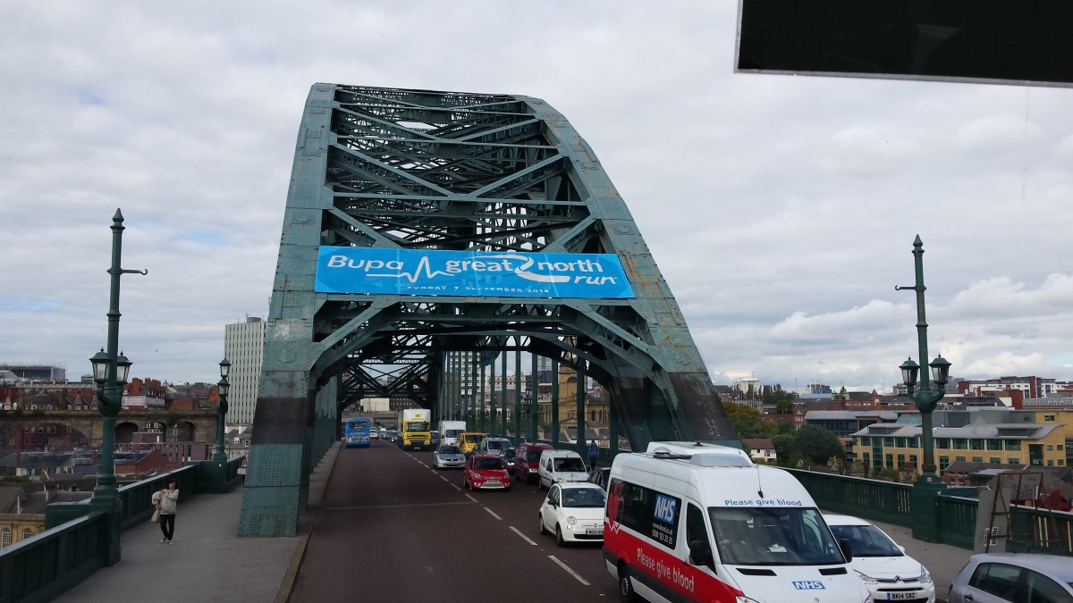 A closer photo of the Tyne Bridge in Newcastle