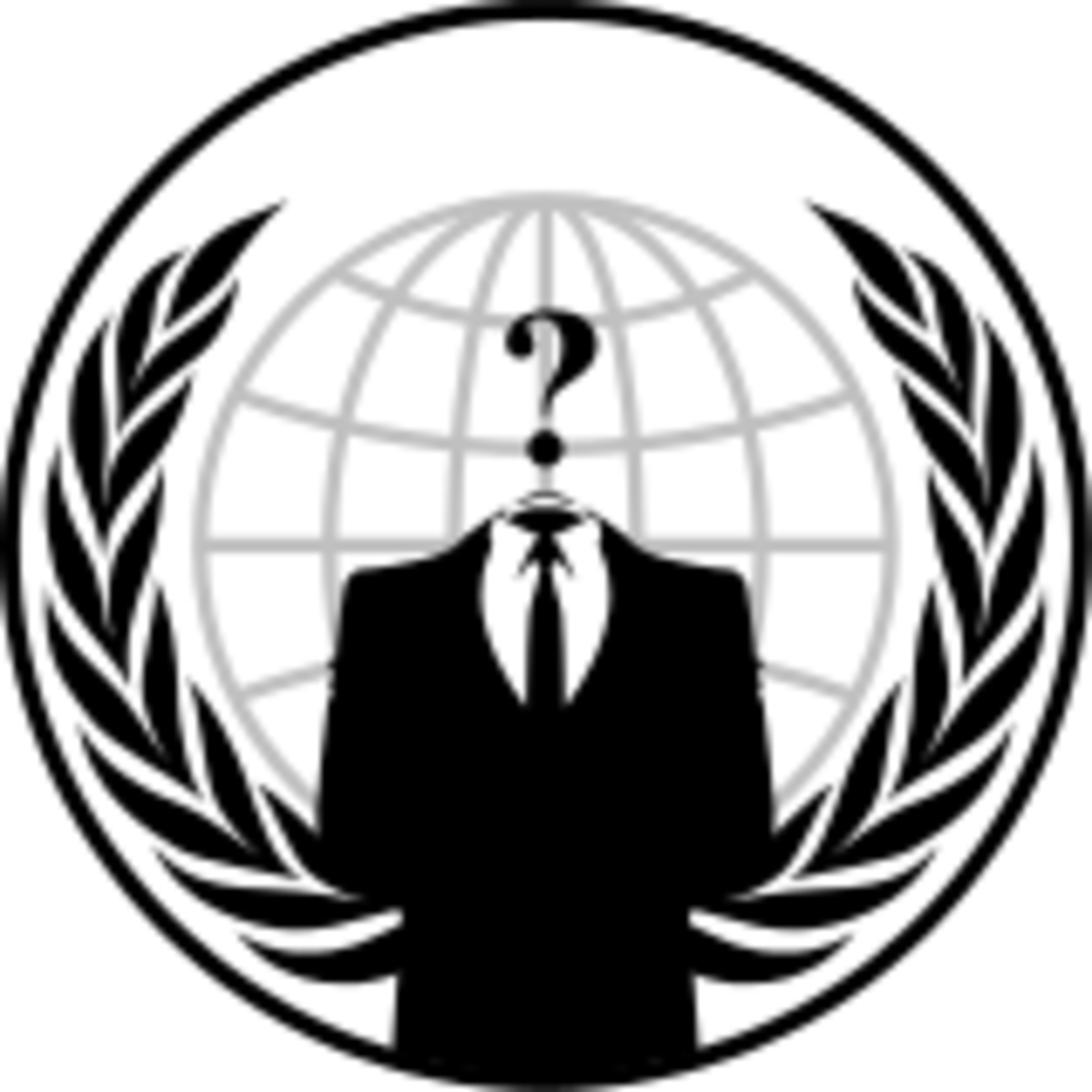 A symbol of the notorious group known as Anonymous, digital 'Freedom Fighters'.