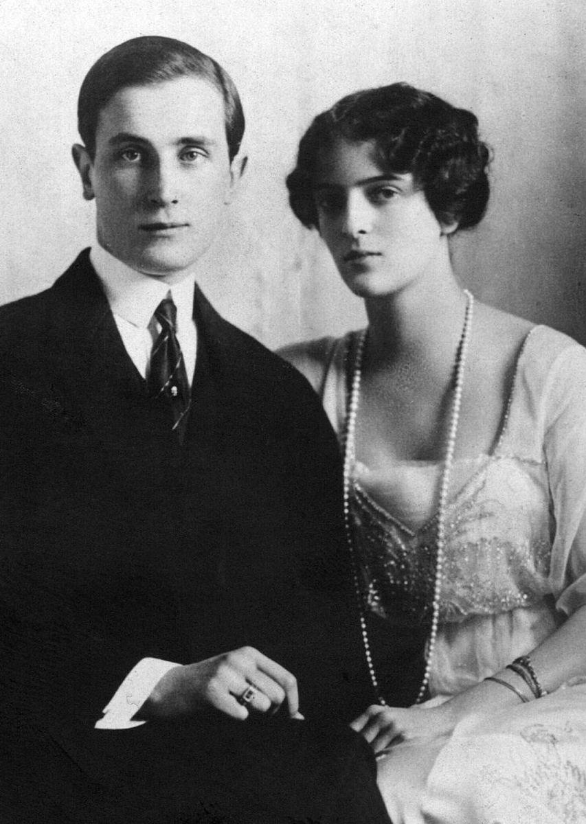 Prince Felix Yusupov and his wife Irina Alexandrovna of Russia 1915.