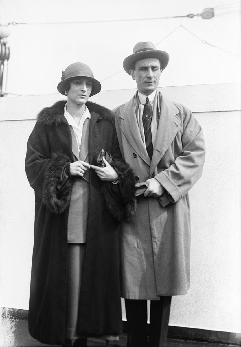Felix and Irina in exile after the Revolution.